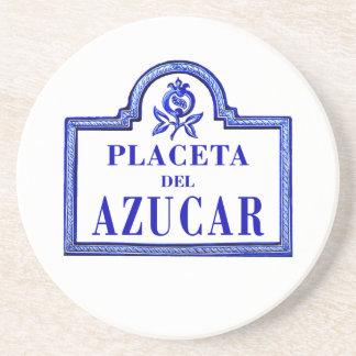 Placeta del Azúcar, Granada Street Sign Beverage Coasters