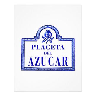 Placeta del Azúcar, Granada Street Sign Letterhead