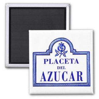 Placeta del Azúcar, Granada Street Sign Fridge Magnet