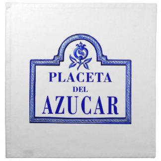 Placeta del Azúcar, Granada Street Sign Cloth Napkins