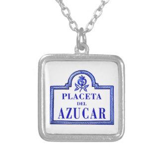 Placeta del Azúcar, Granada Street Sign Necklace