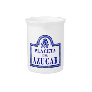 Placeta del Azúcar, Granada Street Sign Drink Pitchers
