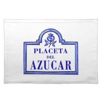Placeta del Azúcar, Granada Street Sign Placemat