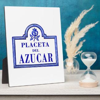 Placeta del Azúcar, Granada Street Sign Display Plaque