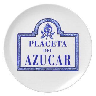 Placeta del Azúcar, Granada Street Sign Dinner Plate