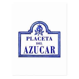 Placeta del Azúcar, Granada Street Sign Postcard