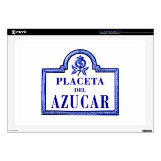 """Placeta del Azúcar, Granada Street Sign Decal For 17"""" Laptop"""