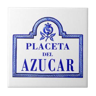 Placeta del Azúcar, Granada Street Sign Tiles