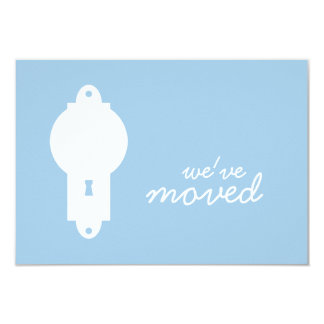 Placid Blue Door Knob Housewarming Party Invite