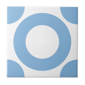 Placid Blue Dot 3 Ceramic Tile