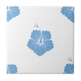 Placid Blue Flower Pattern 3 Tile