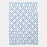 Placid Blue Geometric Kitchen Towel