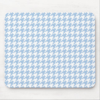 Placid Blue Houndstooth Mouse Pad