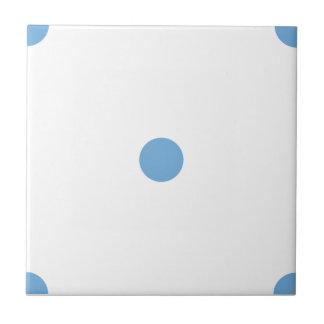 Placid Blue Polkadots Small Ceramic Tiles
