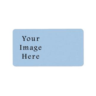 Placid Light Blue Color Trend Blank Template Label