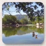 Placid mirror lake drink coasters