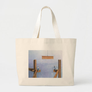 Placing the Last Link Large Tote Bag