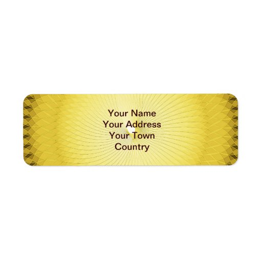 Plafond amarillo etiqueta de remite