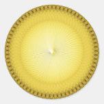 Plafond amarillo pegatina redonda