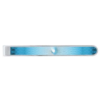 Plafond azul claro alfiler de corbata plateado