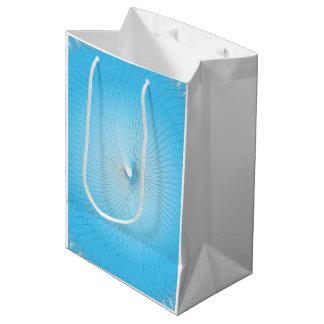 Plafond azul claro bolsa de regalo mediana