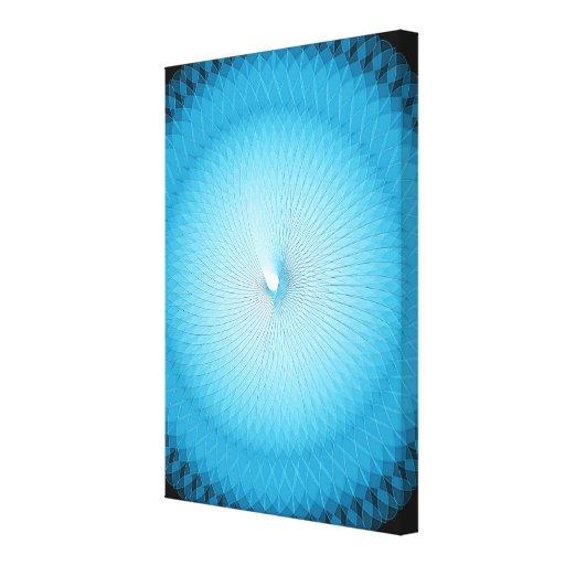 Plafond azul claro lienzo envuelto para galerias