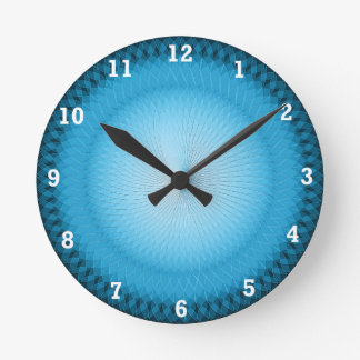 Plafond azul claro reloj redondo mediano