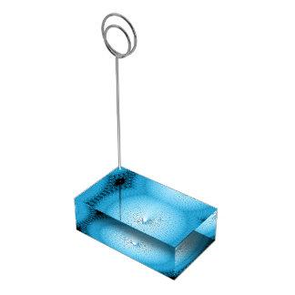 Plafond azul claro soportes de tarjeta de mesa
