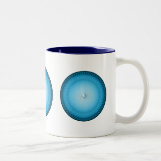Plafond azul claro taza de café de dos colores