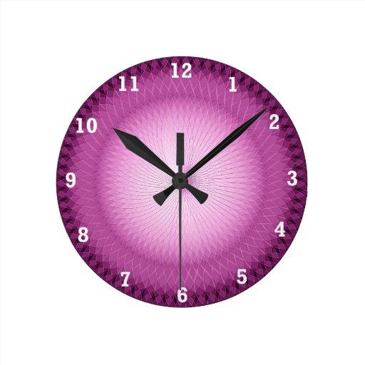 Plafond rosado reloj redondo mediano