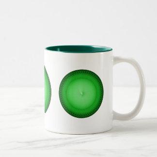 Plafond verde taza de dos tonos