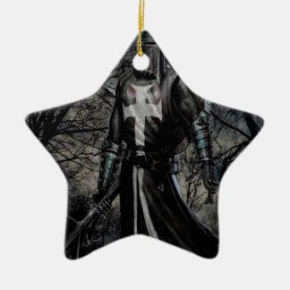 Plaga abstracta del caballero negro de la fantasía ornamento para arbol de navidad