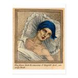 Plaga médica de la muerte negra del kitsch retro d tarjeta postal