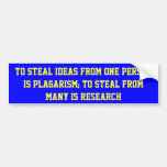 Plagarism & Research Bumper Stickers