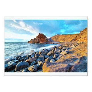 Plage de El Golfo Plages de Lanzarote Espagne Personalized Announcement