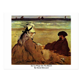 Plage del La de Sur en la playa de Manet Eduardo Postales