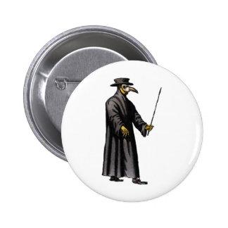 plague-doctor-3 2 inch round button