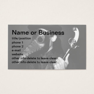 Plague Doctor Business Card