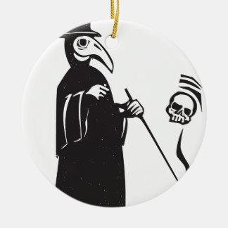 Plague Doctor Ceramic Ornament