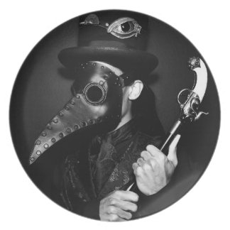 Plague Doctor Melamine Plate