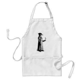 Plague Doctor with a Hot Cuppa Adult Apron