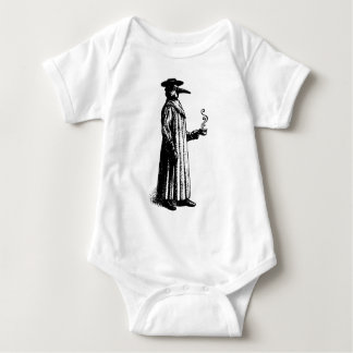 Plague Doctor with a Hot Cuppa Baby Bodysuit