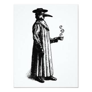 Plague Doctor with a Hot Cuppa Card
