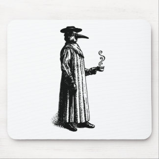 Plague Doctor with a Hot Cuppa Mouse Pad