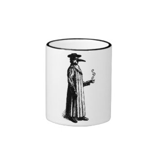 Plague Doctor with a Hot Cuppa Ringer Mug