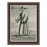 Plague Doctor's Beak Costume Rome Poster
