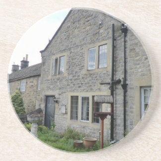 Plague Houses in Eyam, Derbyshire Drink Coaster