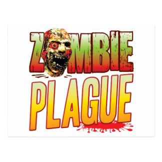 Plague Zombie Head Postcard
