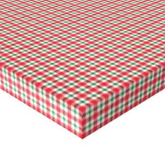 plaid03 RED WHITE PLAID CHECKERED PATTERN TEMPLATE Canvas Print