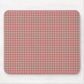 plaid03 RED WHITE PLAID CHECKERED PATTERN TEMPLATE Mouse Pad